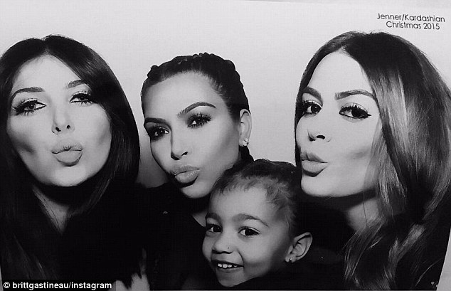 Pouty: Kim was last seen on Thursday at her mother Kris Jenner's Christmas Eve party