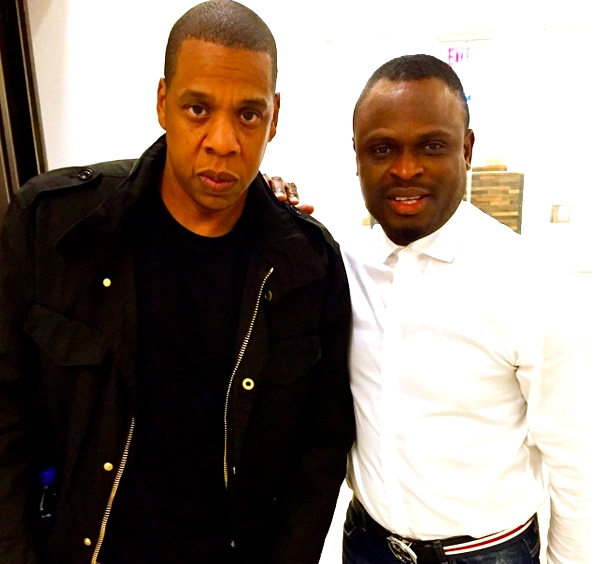 Jay Z in a photo with State of Mind Entertainment boss, Tobi Sanni Daniel | Photo: Instagram